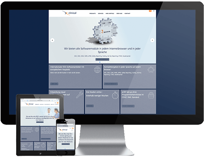 XClinical im responsive Design auf TYPO3-Basis